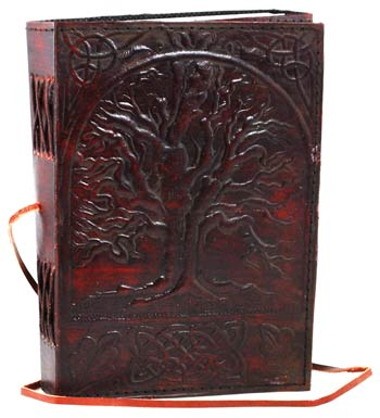 Embossed Leather Sacred Oak Tree