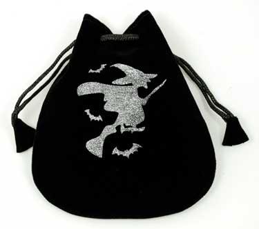 Witch-Velveteen-Drawstring-Bag
