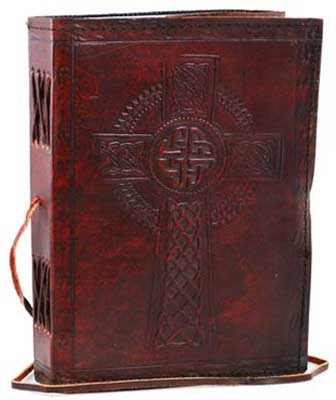 Embossed Leather Celtic Cross
